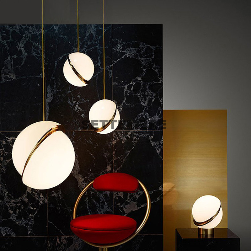 где купить Modern Pendant Light Kitchen Foyer Acrylic Lampshade Nordic Scandinavian Design Gold Fixtures по лучшей цене