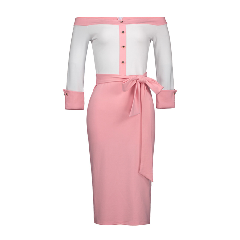 Bohoartist Women S Bodycon Dress Backless Patchwork Bead Bowknot Color Block Zipper Slash Neck 2018 Modern