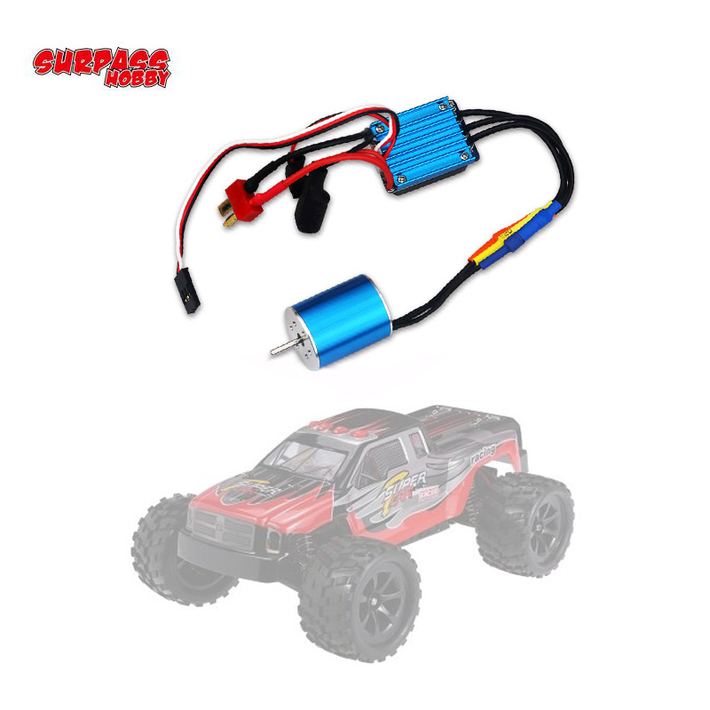 2430 7200KV Motor & 25A Brushless <font><b>ESC</b></font> for 1/18 1/16 HSP Redcat Traxxas HPI Tamiya RC On-road Off-Road Car SCT Truck image