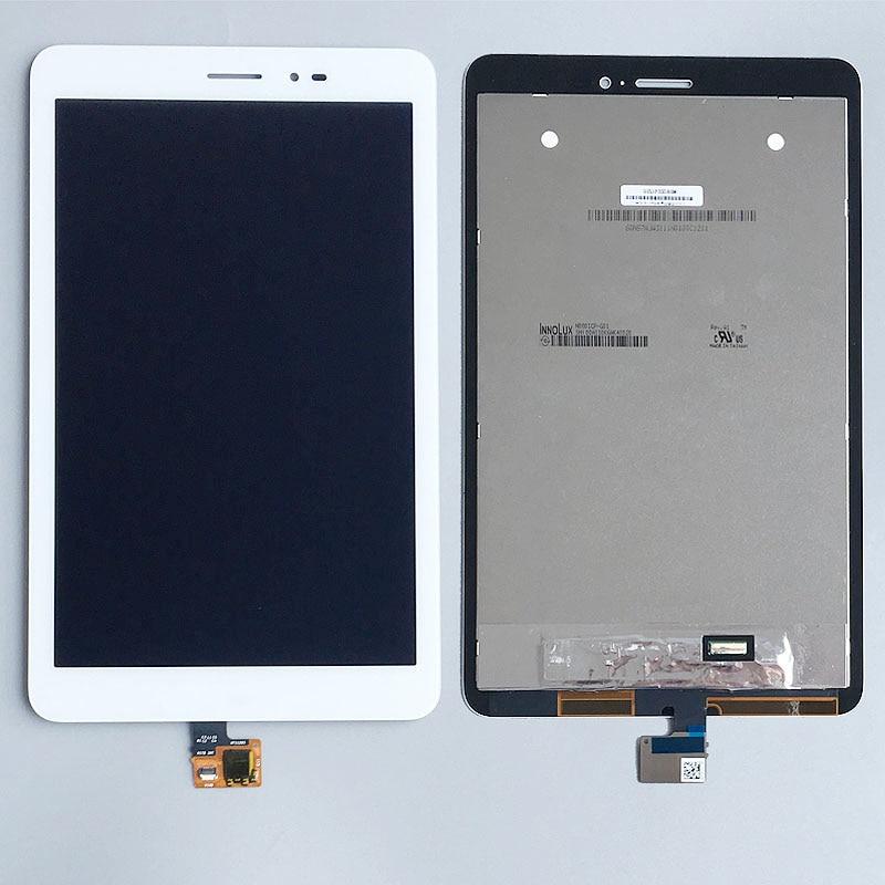 Assemblée d'affichage en verre d'affichage à cristaux liquides de numériseur d'écran tactile blanc pour Huawei Mediapad M1 8.0 T1-821 T1-823