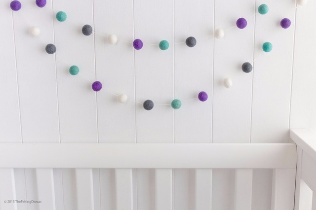 2.5M Handmade Macaron Colored Ball Decoration With Balls Baby Kids Tent Room Decor Accessory Wall Hanging 4