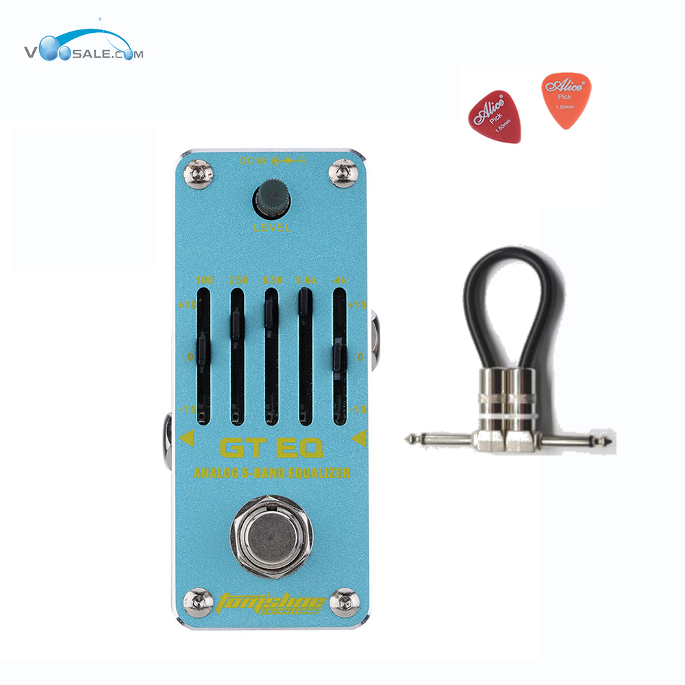 Aroma AEG-3 GT EQAnalogue 5 Band Equalizer Guitar Effect Pedal Mini Volume With True Bypass Volume Guitar Parts + Free Cable aroma adr 3 dumbler amp simulator guitar effect pedal mini single pedals with true bypass aluminium alloy guitar accessories