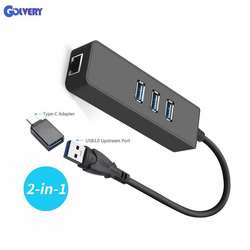 Ethernet Adapter Portable USB 3 0 to RJ45 10 100 1000 Mbps Network LAN Wired Adapter