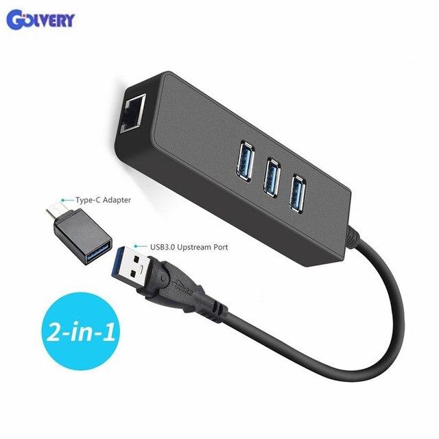 Ethernet adaptörü Taşınabilir USB 3.0 RJ45 10/100/1000 Mbps Ağ LAN Kablolu Adaptör Chromebook için, MacBook, mac Pro/Mini, iMa