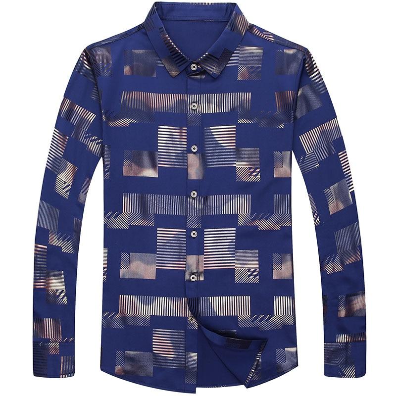 2020 Brand Casual Spring Luxury Plaid Long Sleeve Slim Fit Men Shirt Streetwear Social Dress Shirts Mens Fashions Jersey 2306 3