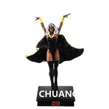 O X-Men Superhero Tempestade Ororo Munroe Resina Action Figure Collectible Toy Modelo com caixa de varejo 12 CM Q179