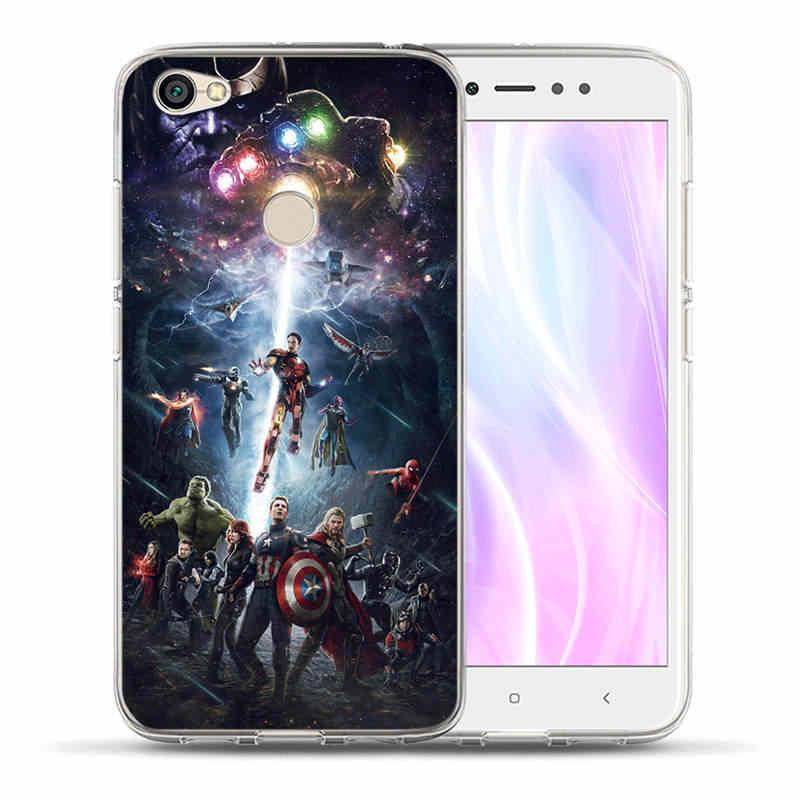 Lüks Marvel Hero Yumuşak Silikon xiaomi için telefon kılıfı Redmi 3 S Not 3 4 4X 5A 5 6 Artı Pro Başbakan avengers Kapak Hoesjes