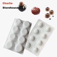 Cake Mold 8 Hole Round Stone Tart Shape Cake Mold Non Stick Baking 3D DIY Desserts