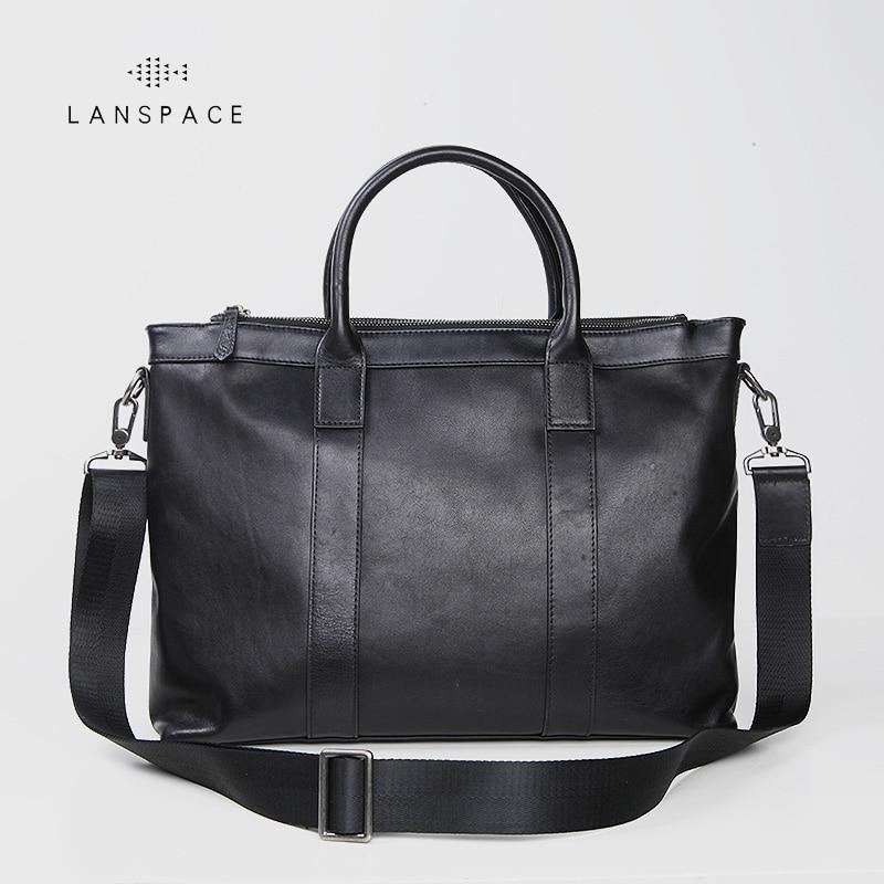 LANSPACE men's leather shoulder bags leisure crossbody bag fashion leather men bag lanspace men s genuine leather shoulder bags fashion men bag famous brand crossbody bag