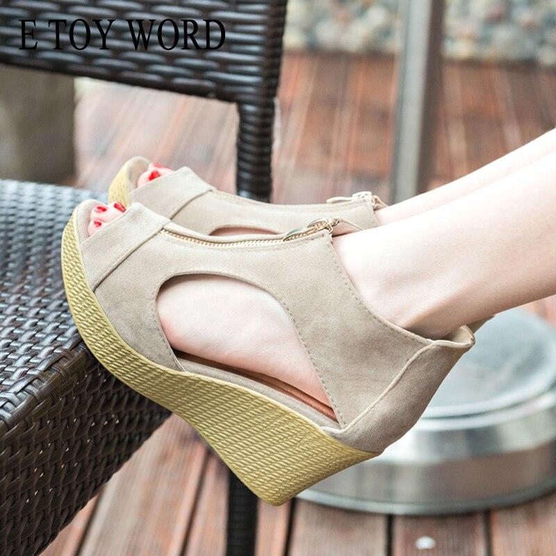 E TOY WORD Summer Shoes Woman Platform Sandals Women High Heel Sandals Peep Toe Gladiator Wedges Women Sandals zapatos mujer 1
