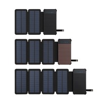 Portable 10000mah Solar Power Bank For Xiaomi Phone Charger Double Waterproof USB Solar Panel External Battery Mobile Poverbank