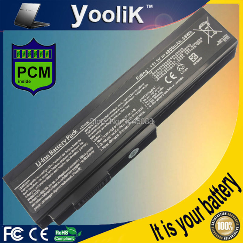 Battery for Asus A32-H36 A32-M50 A32-X64 A33-M50 G50G G60 M50 M60J jigu 5200mah laptop battery for asus m50 m60 n43 n53 x55 x57 a32 h36 g50 g51 g60 l50 n61 series a32 m50 a32 n61 a32 x64 a33 m50