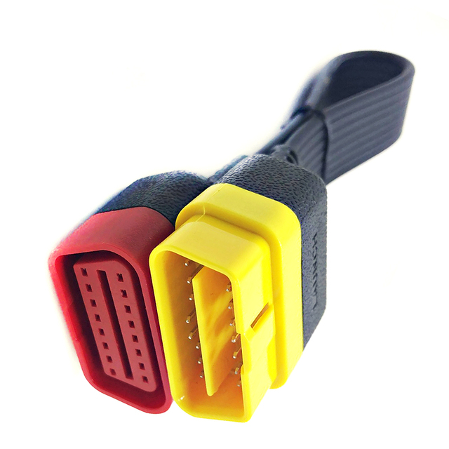 Câble d'extension OBD de lancement chaud pour X431 V/V +/PRO/PRO3/Easydiag 3.0/Mdiag/Golo Main OBD2 connecteur étendu 16Pin mâle à femelle