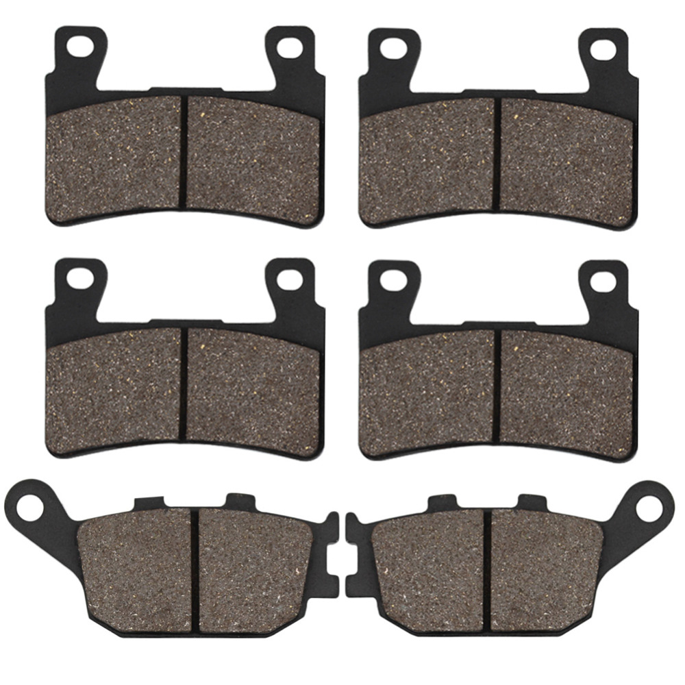 Cyleto Motorcycle Front and Rear Brake Pads for Honda CB400 SF NC39 2004 2005 CBR600 F4 F5 1999-2006 CB1300 Superfour 2003-2012 motorcycle front and rear brake pads for honda cbr600 cbr900 vtr1000 cb1300s cbr929 cbr954 rvt1000 r rc51 black brake pads
