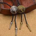 Moda Indio 3D Cacique Cabeza Colgante de Collar de Regalo Collar Corbata Lazos Bolo Tie Bola del Nativo Americano
