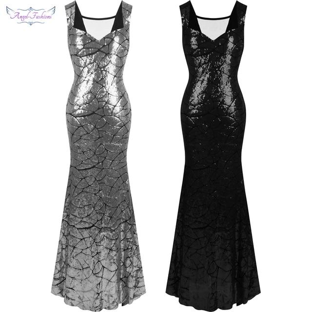 Серебристый цвет в вечернем платье