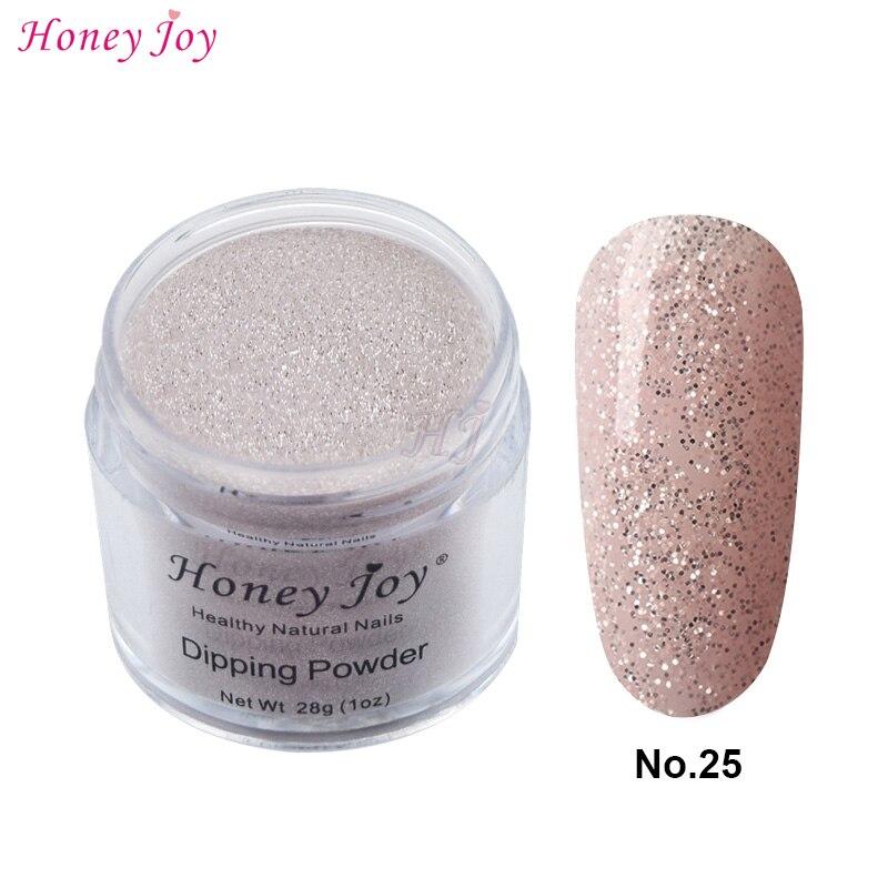 28 g/caixa #25 pink silver glitter fácil de usar mergulho em pó unhas de mergulho unhas de longa duração sem luz uv necessária seguro inodoro