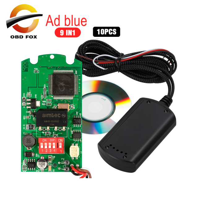 Destek euro 4 & 5 Yeni Adblue 9in1 Yeni Varış 8 in 1 AdBlue Emulator ile SCR ve NOx sensörü adblue OBD2 9 in 1 10 adet/grup Tam çip