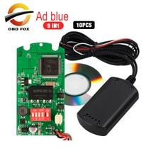 Émulateur Adblue 9 en 1, prise en charge euro 4 et 5, émulateur AdBlue 9 en 1, avec capteur SCR et NOx, OBD2, à puce complète, 10 pièces/lot, nouvelle collection