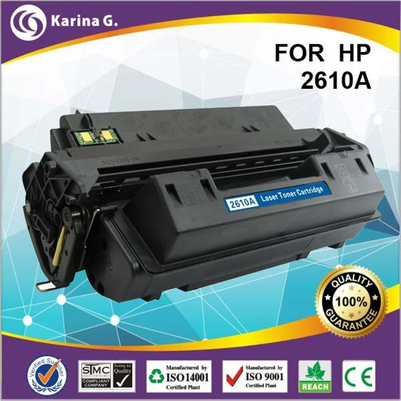 Laser toner cartridge for 10a 2610a for hp q2610a compatible for hp HP2300 2300N 2300DN 2300D 2300DTN laser pinter spare parts color compatible cartridge for xerox 7400 toner reset chip