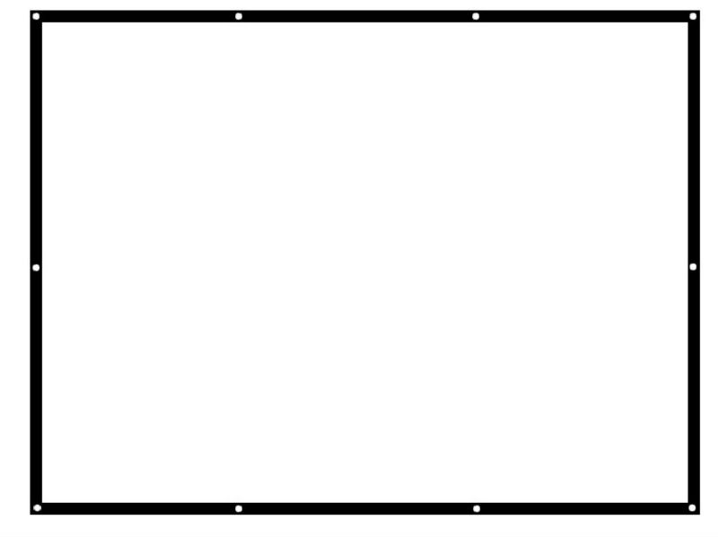 Bonne vue écran de Projection tissu 120 pouces diagonale 16:9 pour projecteur vidéo 2.65x1.5 mètre écrans manuels pas cher prix