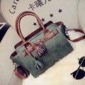 2015 famoso designer marca bolsas mulheres bolsas de couro das mulheres saco de borla moda bolsa de ombro retro feminino top-handle bags LO84