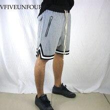 VFIVEUNFOUR Summer Shorts Mens Casual Joggers Male Fashion Large Zip Pocket Hip Hop Elastic Drawstring Streetwear