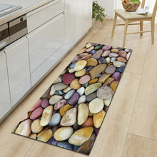 Zeegle Küche Boden Matte Non slip Teppiche Tisch Fußmatten Saugfähigen Küche Teppiche Weiche Teppich 3D Gedruckt