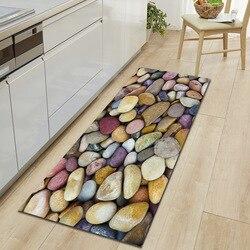 Zeegle Pebble Printed Doormats For Entrance Door Non-slip Carpets For Living Room Coffee Table Floor Mats Absorbent Kitchen Rugs
