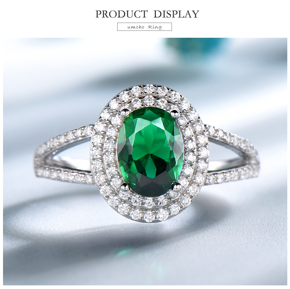 UMCHO-Emerald -sterling-silver-rings-for-women-RUJ097E-1-pc (3)