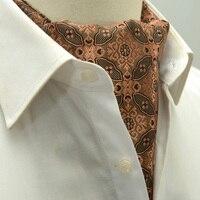 실크 cravats 남성 Romguest 브랜드 영국 복고풍 실크 셔츠 네크 수건 비즈니스 도트 스트라이프 남성 꽃 넥타