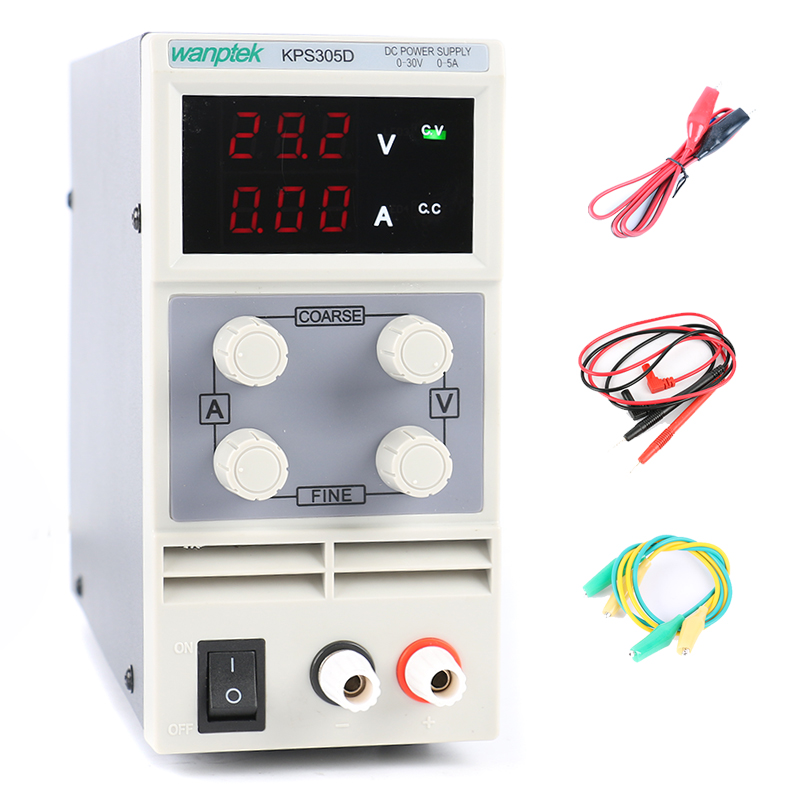 KPS-305D 305DF Mini Adjustable Digital LED DC Power Supply 30V 5A 110V 220V Laboratory Switching Power Supply EU Plug original lw mini adjustable digital dc power supply 0 30v 0 10a 110v 220v switching power supply 0 01v 0 01a 34 pcs dc jack