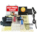 Beginner Complete Tattoo Kit 2 Professional Tattoo Machine Kit Coil Machine Guns Power Supply Needle Grips Set PTK-911-A1