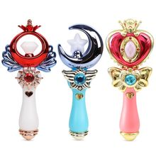 Premium New Exquisite Girls Princess Light Sound Cosplay Halloween Toy Stage Performance LED Wand Magic