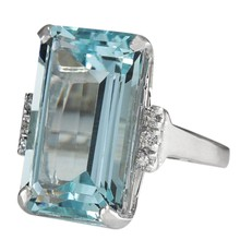 Light Blue Crystal Close Rings For Women Sapphire Jewelry Gemstone European And American Fashion Style(China)