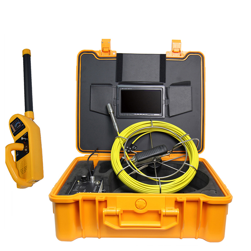 Pipe Locating Drain Sewer Inspection Camera System Pipe Endoscope Borescope 512hz Sonde Transmitter 23mm Camera 50M