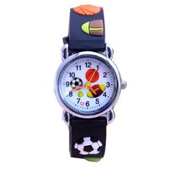 Бесплатная доставка 3D Мультфильм Футбол модные часы Для детей часы мальчиков подарок часы Повседневное кварцевые наручные часы Relogio Relojes