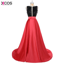 Pakistan Robe de soiree Sexy Beaded Backless Pockets Women Party Events Gown Red Black Arabic Long Evening Dress 2018