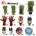 2016 The Avengers iron man 8G pendrive usb flash drive 4G 16G 32G usb stick Hulk Thor Capitán América 64 GB pendrive U disco