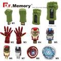 2016 The Avengers usb flash drive 4G iron man 8G pendrive 16G Captain America 32G usb stick Hulk Thor 64GB pendrive U disk