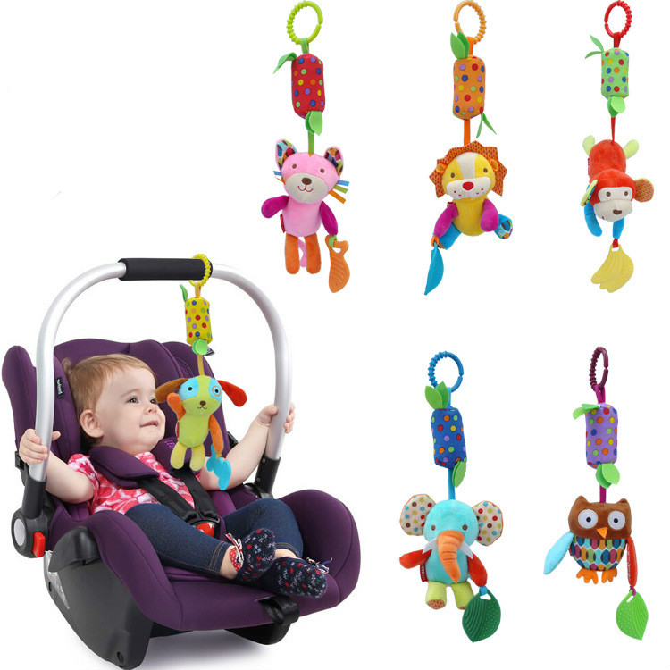 Cute Infant Baby Animals Bells Toys Baby Toys Spiral Bed Stroller Toy Hanging Bell Wind Chimes Crib Rattle Toys For Newborn Baby