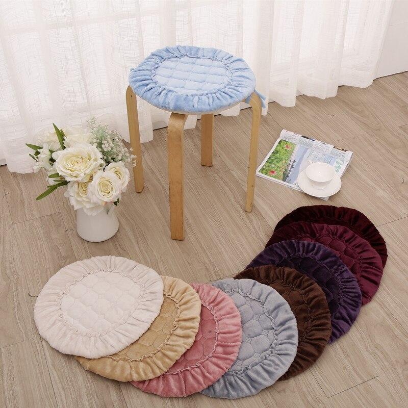 flannel round dining chair cushions mat5 sizes floor cushion seat mat padcheap
