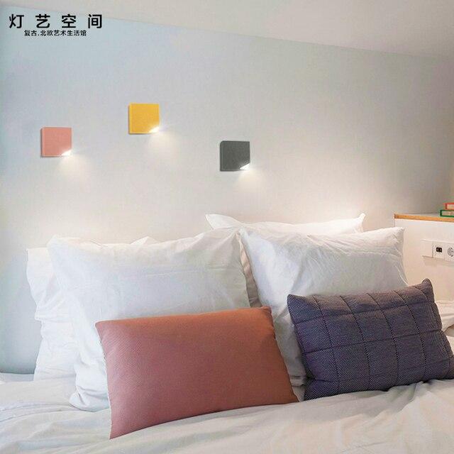 Moderno nordic Taglio angolo di alluminio lampada da parete camera ...