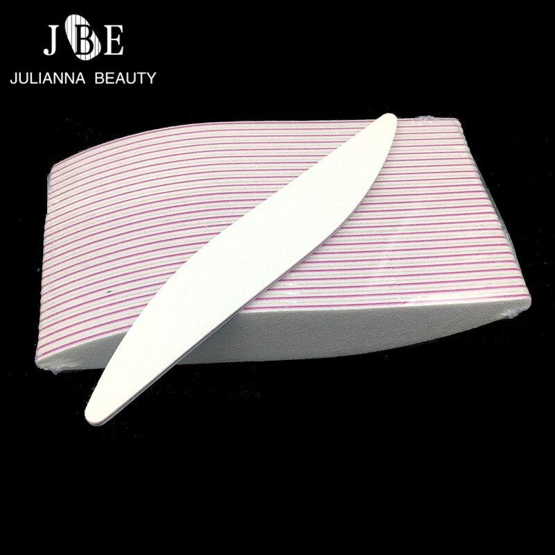 50pcs Nail File 100/180 Sanding Buffer Block White DIY Nail Tips Polishing Remover Kits Manicure Pedicure Tools Wholesale