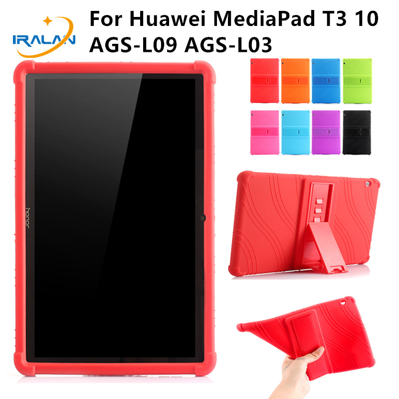 Case For Huawei Mediapad T3 10 AGS-L09 AGS-L03/W09 Soft Silicone Shockproof Protector Cover For Honor Play Pad 2 9.6+stylusfilm laete l03 117 2