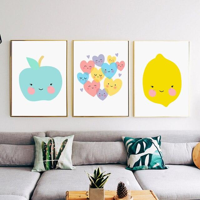 COLORFULBOY Apple Lemon Wall Art Print Pop Art Posters And Prints ...