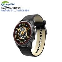 KingWear KW99 3G Smartwatch Bluetooth 4.0 Phone Android 5.1 1.39 inch MTK6580 Quad Core 1.3GHz 8GB ROM 512MB ROM 8GB