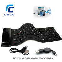 2016 KB 6116 Foldable Wireless Bluetooth Keyboard Eco Friendly Soft Touch Mini Waterproof Portable Mute Silicone