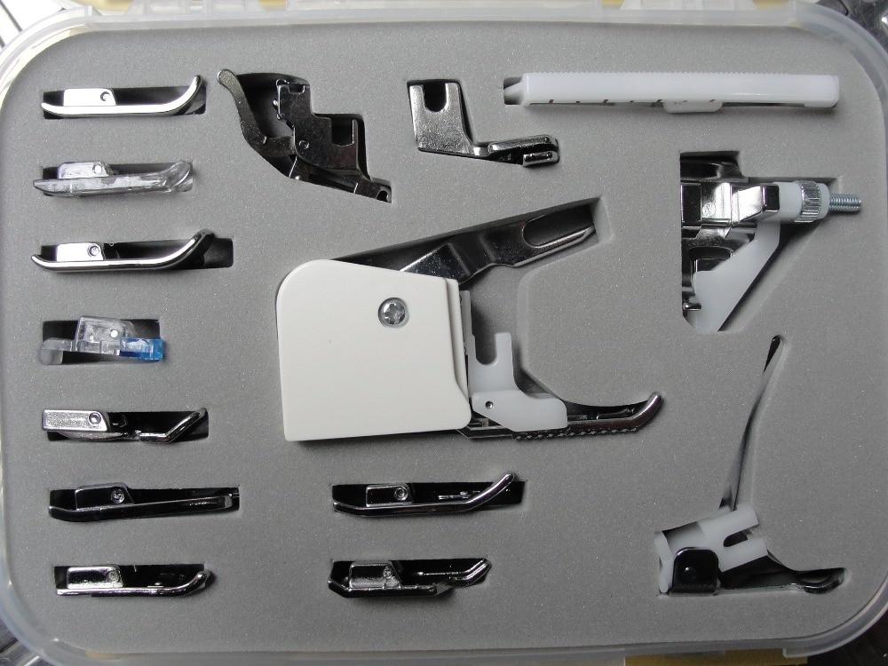 CY-015 naaimachine onderdelen accessoires Voor Brother Janome Singer Juki Domestic Foot Presser 15pc Huishoudelijke naaimachine onderdelen