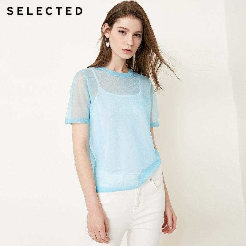 GESELECTEERDE nieuwe vrouwen see through knit sling twee stuk jas S  4182T4525-in T-shirts van Dames Kleding op AliExpress - 11.11_Dubbel 11Vrijgezellendag 1
